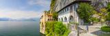 Picturesque Santa Caterina Del Sasso Hermitage  Lake Maggiore  Piedmont  Italy