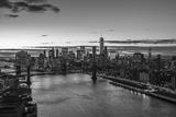 Mahattan Bridge  East River and Lower Manhattan  New York City  New York  USA