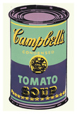 Colored Campbell's Soup Can, 1965 (green & purple) Reproduction d'art par Andy Warhol