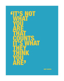 It's not what you are that counts... Reproduction d'art par Andy Warhol