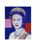 Reigning Queens: Queen Elizabeth II of the United Kingdom, 1985 (blue) Reproduction d'art par Andy Warhol