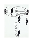 "Dance Diagram [2] [Fox Trot: ""The Double Twinkle—Man], 1962 Reproduction d'art par Andy Warhol"