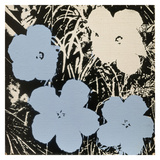Flowers  1965 (3 blue  1 ivory)