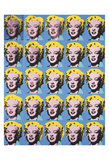 VIngt cinq Marilyns colorées, 1962 Reproduction d'art par Andy Warhol