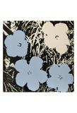 Flowers, 1965 (3 blue, 1 ivory) Reproduction d'art par Andy Warhol