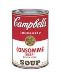 Campbell's Soup I: Consomme, 1968 Reproduction d'art par Andy Warhol