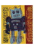 Moon Explorer Robot, 1983 (blue & yellow) Reproduction d'art par Andy Warhol