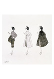Untitled (Three Female Fashion Figures), c. 1959 Reproduction d'art par Andy Warhol