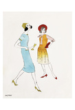 Untitled (Two Female Fashion Figures)  c 1960