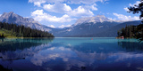 Reflection of Mountain on Water  Emerald Lake  Yoho National Park  British Columbia  Canada