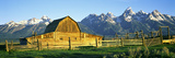 Sunrise over the Moulton Barn Along Mormon Row  Teton Range  Mormon Row Historic District