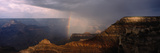 Monsoon Storm with Rainbow Passing Through the Grand Canyon