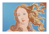 Details of Renaissance Paintings (Sandro Botticelli  Birth of Venus  1482)  1984 (blue)