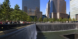 View of 9/11 Memorial  Manhattan  New York City  New York State  Usa