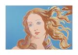 Details of Renaissance Paintings (Sandro Botticelli  Birth of Venus  1482)  1984 (blue)
