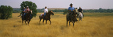 People Horseback Riding  North Dakota  Usa