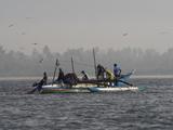 Fisherman Hauling Nets Aboard in Waters Between Matara and Mirissa  Southern Province  Sri Lanka