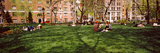Tourists in a Park  Washington Square Park  New York City  New York State  Usa