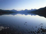 Lake Mcdonald and the Rocky Mountains in Glacier National Park  Montana