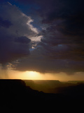 Breaking Storm at Sunset over the Grand Canyon from Yaki Point on the South Rim