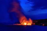 Lava Flowing into Ocean  Hawai'I Volcanoes National Park  Kilauea Volcano  Big Island  Hawaii  Usa