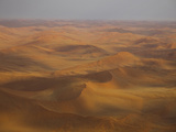 Sand Dunes in a Desert Seen from Airplane  Sossusvlei  Namib-Naukluft National Park  Hardap