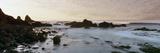 Rock Formations on Beach at Sunrise  Las Rocas Beach  Baja California  Mexico