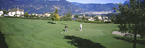 Two Men Playing Golf  San Paolo  Bolzano  Italy