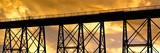 Silhouette of a Railway Bridge at Sunset  Gaviota State Park  California  Usa