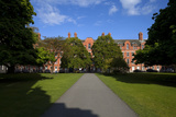 View across Library Square to the Rubrics  Trinity College Dublin  Ireland