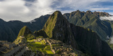 Elevated View of Inca Ruins  Machu Picchu  Urubamba Valley  Cusco City  Peru