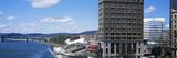Downtown Buildings at Waterfront  Kanawha River  Charleston  Kanawha County  West Virginia  Usa