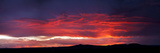 Silhouette of Mountain Range at Sunset  Taos  Taos County  New Mexico  Usa