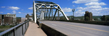 Bridge with Downtown Buildings in the Background  Charleston  Kanawha County  West Virginia  Usa