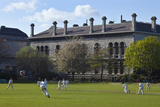 Cricket Match on College Park With the Museum in B/G  Trinity College Dublin  Ireland