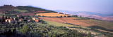 Aerial View of a Field  Monticchiello  Pienza  Siena Province  Tuscany  Italy