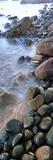 Incoming Tide Meets a Cobblestone Strewn Beach  Las Rocas Beach  Baja California  Mexico