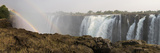 Victoria Falls with Rainbow in the Mist  Zambezi River  Zimbabwe