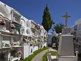 A Peaceful Graveyard in Casares Malaga Province  Andalucia  Spain