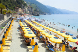 Italy Cinque Terre Monterosso - Sunbathers on the Beach