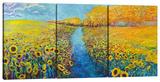 Sunflowers (Triptych)