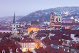 Prague - St Nicolas Church and Rooftops of Little Quarter in Winter