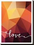Geometric Love Orange