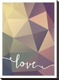 Geometric Love Purplebrown