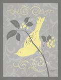 Grey & Yellow Bird I