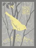 Grey & Yellow Bird II