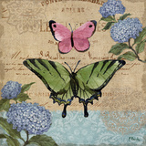 Burlap Butterflies I