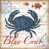 Crabe bleu Reproduction d'art par Todd Williams