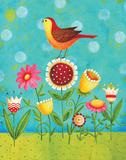 Birdie on Flowers
