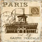 Paris Collage Sq IV